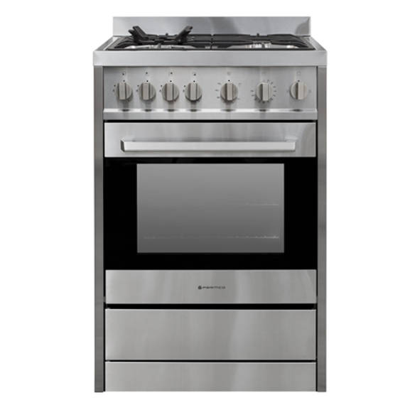 600mm 70 Litre Freestanding Stove, Full Gas, Stainless Steel