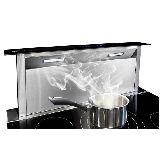 900mm Rear Riser Downdraft, Glass