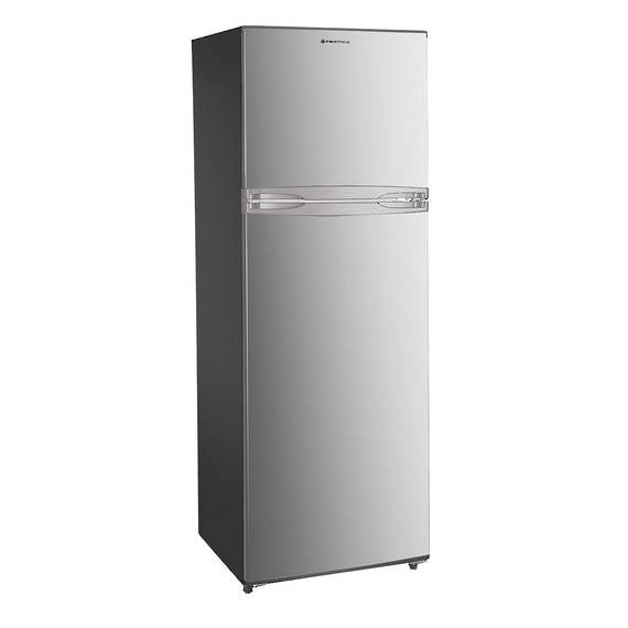 366L Fridge Freezer, Top Mount, Silver