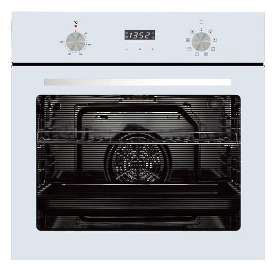 600mm 76Litre Oven, 8 Function, White