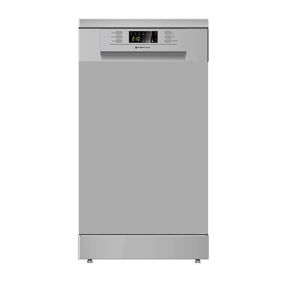 450mm Freestanding Dishwasher, Slim, Economy, Silver
