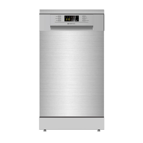 450mm Freestanding Dishwasher, Slim, Economy, Stainless Steel