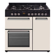 900mm Country Style Freestanding Gas Stove, 1 & 1/2 Ovens + Grill, Beige