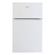 88L Under Bench Fridge Freezer, White
