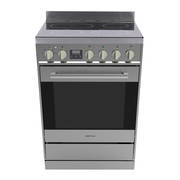 Freestanding Stove, 600mm, Stainless Steel Ceramic