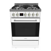 Freestanding Stove, 600mm, Stainless Steel Ceramic - White
