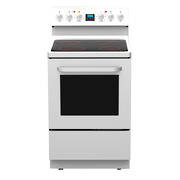600mm Freestanding Stove, Ceramic Cooktop, 8 Function Electric Oven, White