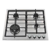 600mm Gas Hob, 3 Burner + Wok, Stainless Steel