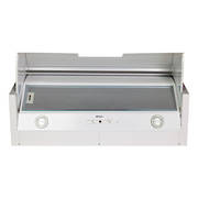 900mm Tilta Front Rangehood, White, Air Capacity Up To 1000m3/hour