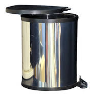 Round Hinged Bin, Door Mounted, Stainless Steel