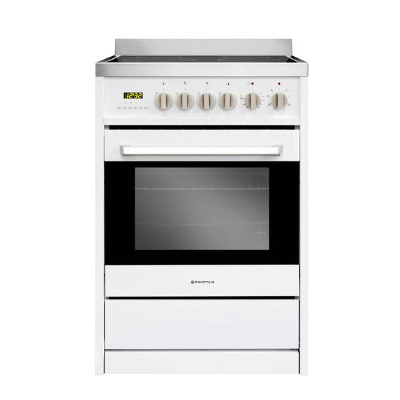 600mm Ceramic Freestanding Stove, White (DISCONTINUED)