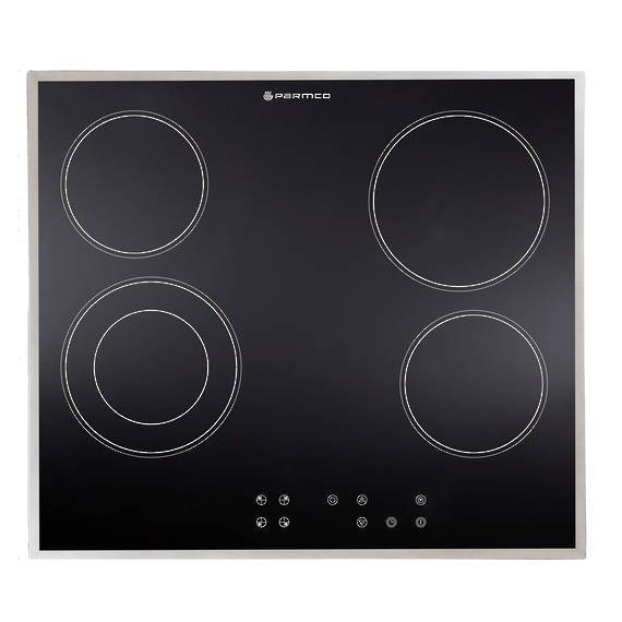 600mm Hob, Ceramic, Stainless Steel Trim, Touch Control