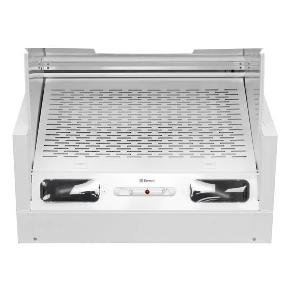 600mm Tilta Front Rangehood, White, Air Capacity Up To 480m3/hour