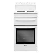 540mm Freestanding Stove, Radiant Coil Cooktop, Electric Oven, White