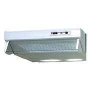 600mm Glass Front Caprice Rangehood, Single Motor, White