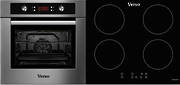 Verso 1 Pack 600mm Oven, 9 Function, Stainless Steel and 600mm Induction Cooktop
